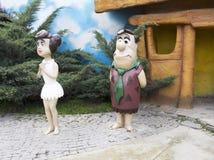 Fred Flintstone et Wilma Flintstone Photos stock