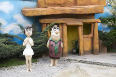 Fred Flintstone y Wilma Flintstone Fotos de archivo libres de regalías