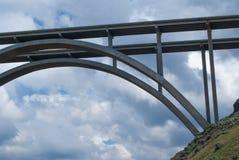 Fred G Redmon Bridge. A look from below the Fred G Redmon Bridge Stock Image