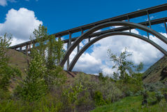 Fred G Redmon Bridge. A look from below the Fred G Redmon Bridge Royalty Free Stock Photos