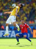 Fred and Gary Medel  Coupe du Monde 2014 Royalty Free Stock Photo