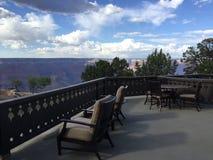 Fred Harvey Suite View av Grand Canyon royaltyfri fotografi