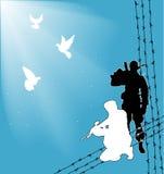 fred kriger Fotografering för Bildbyråer