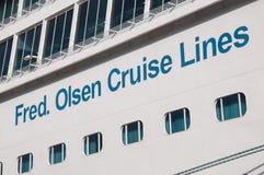 fred Lignes de croisière d'Olsen Photo libre de droits