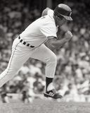 Fred Lynn, Detroit Tigers. Detroit Tigers outfielder Fred Lynn. Image taken from B&W negative Stock Image