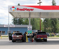 Fred Meyer Gas Station Royaltyfri Bild