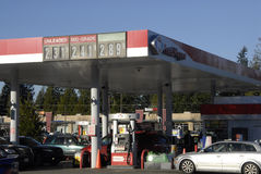 FRED MEYER GASOLINE Royalty Free Stock Photography