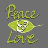 Fred- och förälskelseord, räcker skriftlig bokstäver Fotografering för Bildbyråer