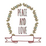 Fred- och förälskelsetecknad film stock illustrationer
