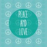 Fred- och förälskelsetecknad film royaltyfri illustrationer