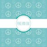 Fred- och förälskelsetecknad film vektor illustrationer