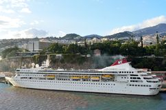 Fred Olsen cruise line ship. Cruise Ship of Fred Olsen line, in port at Madeira Royalty Free Stock Photos