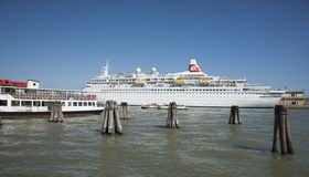 Fred Olsen cruise liner in Venice. Royalty Free Stock Image