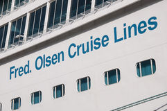 Fred. Olsen Cruise Lines. Cruise ship Balmoral, Fred. Olsen Cruise Lines Royalty Free Stock Photo
