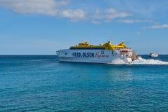 Fred Olsen Express auf Kanarischen Inseln lizenzfreies stockfoto