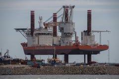 Fred Olsen Windcarrier Bold Tern in Esbjerg Harbour, Denmark Royalty Free Stock Photo