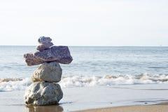 Fred på stranden arkivbild