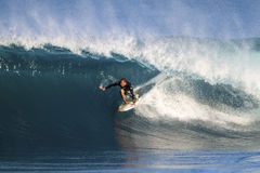 Fred Patacchia of Hawaii, Surfing at Backdoor Stock Image
