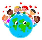 Fred runt om världen royaltyfri illustrationer