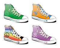 fred shoes symbol Arkivbild