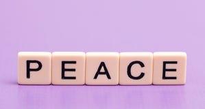 Fred som ut stavas Arkivbild