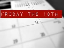 fredag det 13th begreppet Arkivbild