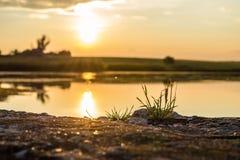 fredag solnedgång Arkivbild