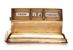 fredag 14th Februari evig kalender Arkivfoto