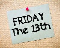 fredag the13th meddelande Arkivfoton