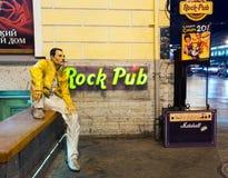 Freddie水星雕象 免版税图库摄影