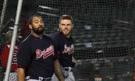 Freddie Freeman and Matt Kemp Stock Image