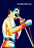 Freddie Mercury ilustração stock