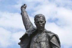 Freddie Mercury, ein Fragment des Denkmales Lizenzfreie Stockfotos