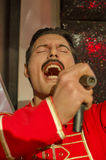 Freddie mercury. In the famous wax museum Madame tussauds london, england stock photo