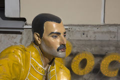 Freddie Mercury figure at the entrance to the rock cafe Stock Photo