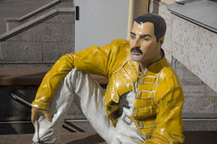 Freddie Mercury figure at the entrance to the rock cafe Royalty Free Stock Images