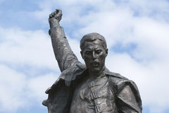 Freddie Mercury, a fragment of the monument Royalty Free Stock Photos