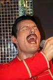 Freddie Mercury. London, - United Kingdom, 08, July 2014. Madame Tussauds in London.  Waxwork statue of Freddie Mercury. Created by Madam Tussauds in 1884, Madam Royalty Free Stock Photos