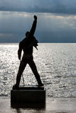Freddie Mercury Statue in Montreux. MONTREUX - MAY 25: Freddie Mercury statue unveiled on 25 November 1996, made by Czech sculptor Irena Sedlecka in Montreux in royalty free stock photography