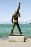 Freddie Mercury statue. Freddie Mercury statue on the shore of Geneva lake on August 09, 2012 in Montreux, Switzerland royalty free stock photos