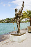 Freddie Mercury statue. Freddie Mercury statue on the shore of Geneva lake on August 09, 2012 in Montreux, Switzerland royalty free stock images