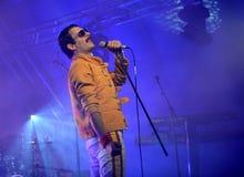 Freddie Mercury Tribute Arkivfoton