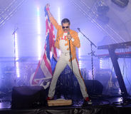 Freddie Mercury Tribute. A tribute to the famous and most extravagant rock performer,lead singer of British rock band called Queen,Freddie Mercury stock photography