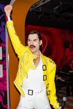 Freddie Mercury wax statue, Madame Tussaud`s Museum Vienna royalty free stock photo