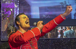 Freddie Mercury. Wax figure in Madame Tussauds museum royalty free stock image