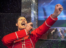 Freddie Mercury. Wax figure in Madame Tussauds museum royalty free stock photography