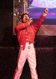 Freddie Mercury. Wax statue at Madame Tussauds in London stock photography