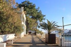 Freddo del maltempo del mare di inverno di Mar Nero della tempesta Immagini Stock Libere da Diritti
