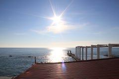 Freddo del maltempo del mare di inverno di Mar Nero della tempesta Immagine Stock Libera da Diritti