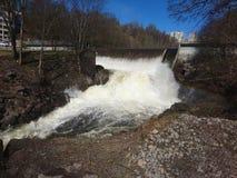Freddo dell'acqua di fiume del centro di Oslo immagini stock libere da diritti